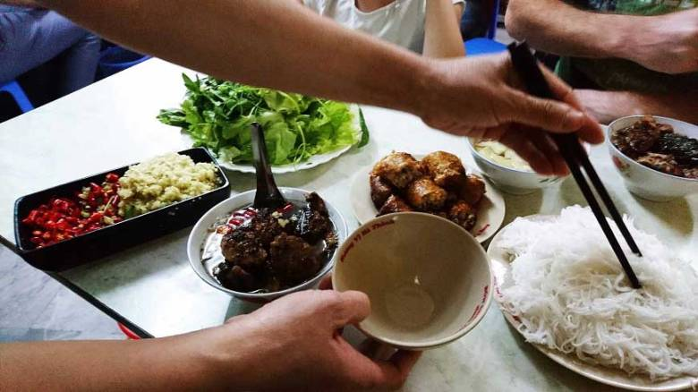 Typische Gerichte in Vietnam BunCha