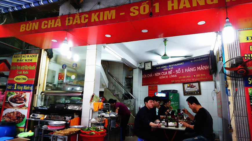 Bun Cha Dac Kim in Hanoi