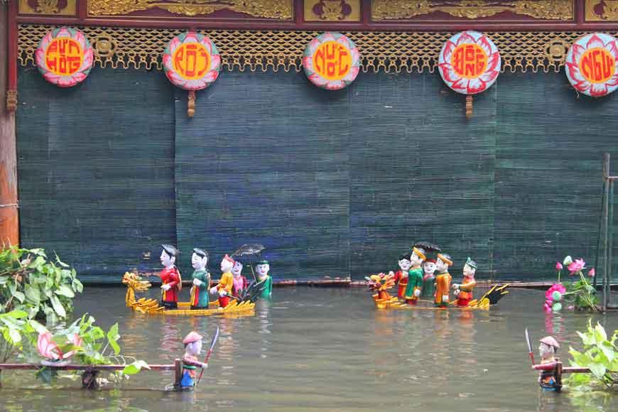 Reiseroute Vietnam Wasserpuppentheater