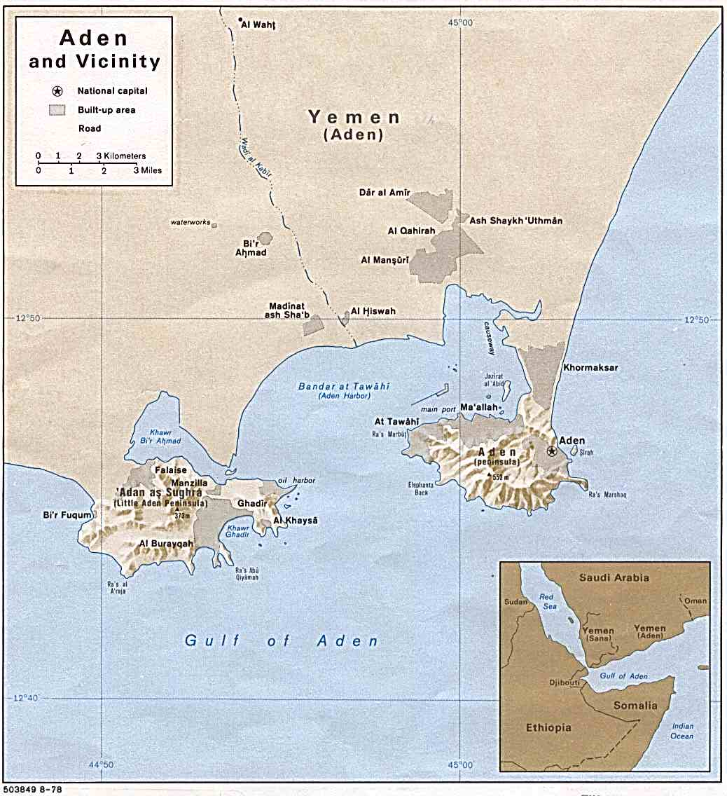 A map of Aden metro area