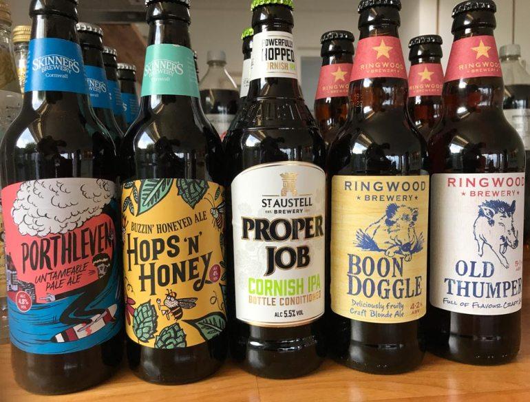 Biere aus der Region Cornwall
