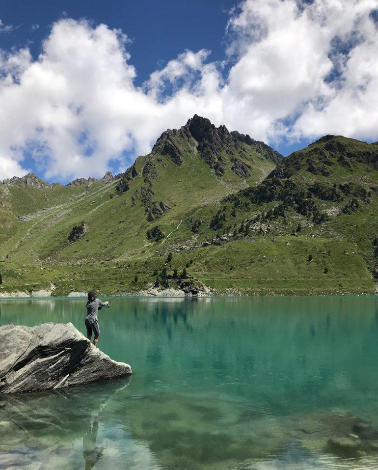 Angeln am Lac de Cleuson