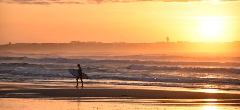 Ein Surftag geht zu Ende
