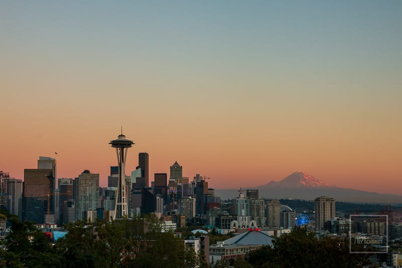 Seattle im Sonnenuntergang USA