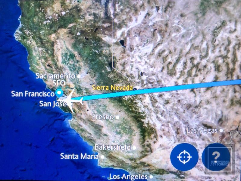 Bildschirm im Flugzeug