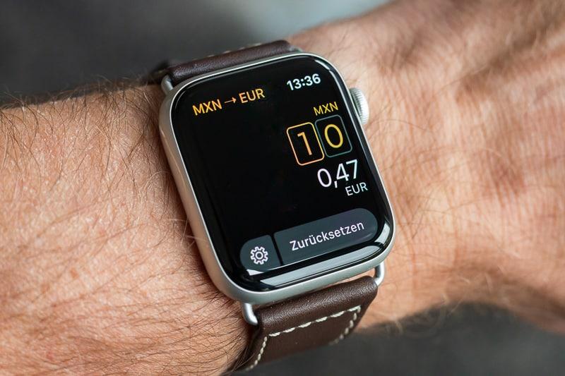 Elk Währungsrechner auf der Apple Watch