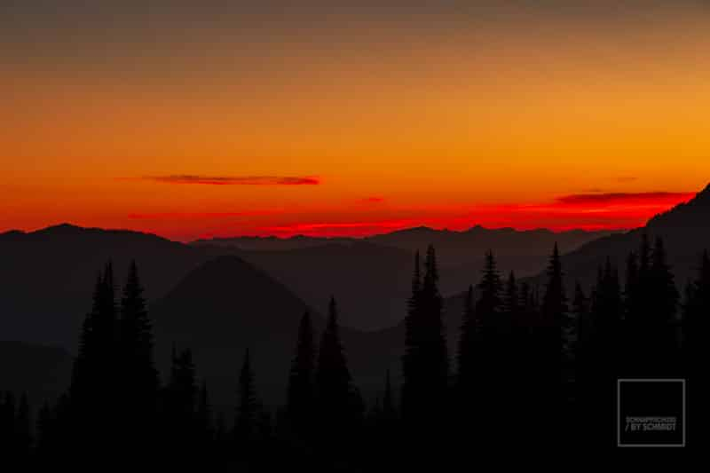 Sonnenuntergang Mount Rainier