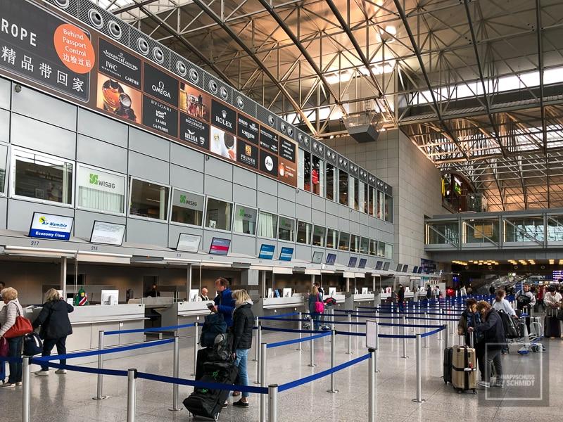Namibia Rundreise - Flughafen Frankfurt