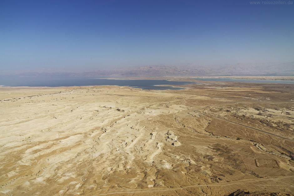 Israel Reisen Reisetipps Masada Blick zum Toten Meer