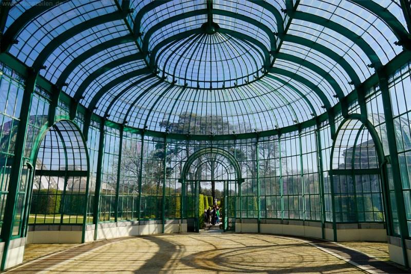 Gewächshäuser Laeken Brüssel Belgien - Eingang