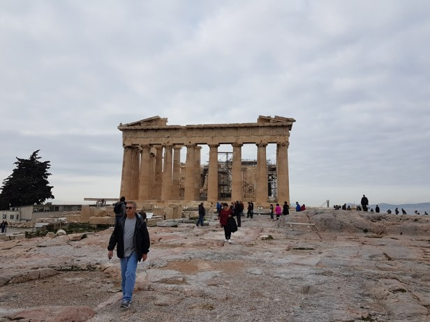 Athene winter Akropolis