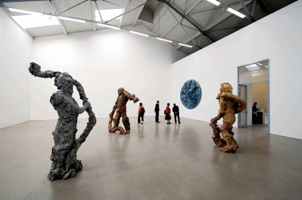 Eén van de galeries in Spinnerei, Leipzig