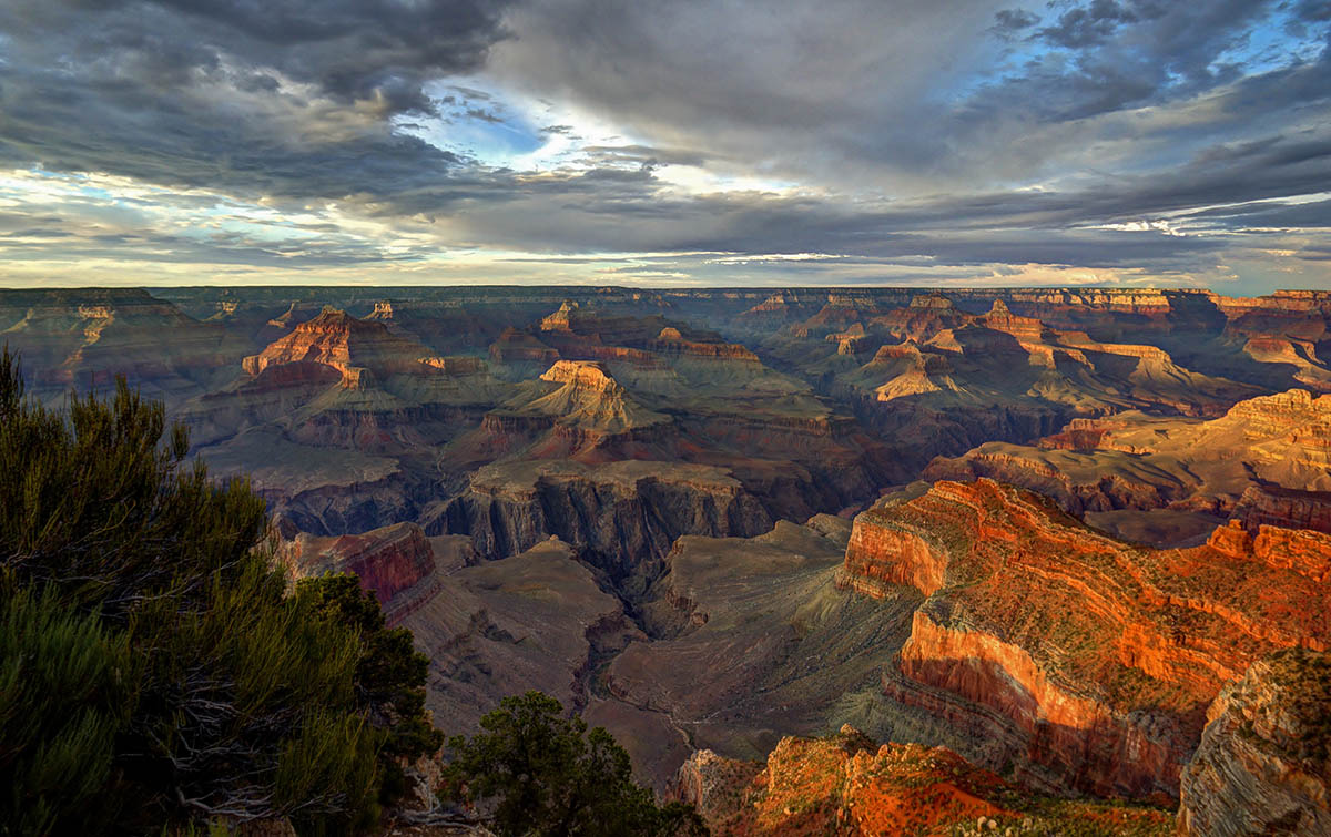hopi point zonsondergang grand canyon