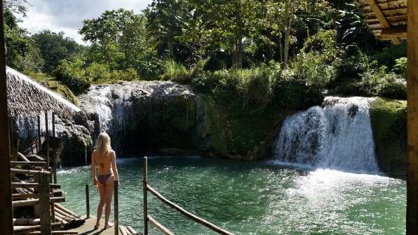 Rondreis Filipijnen: Pangas Falls Bohol uitzicht