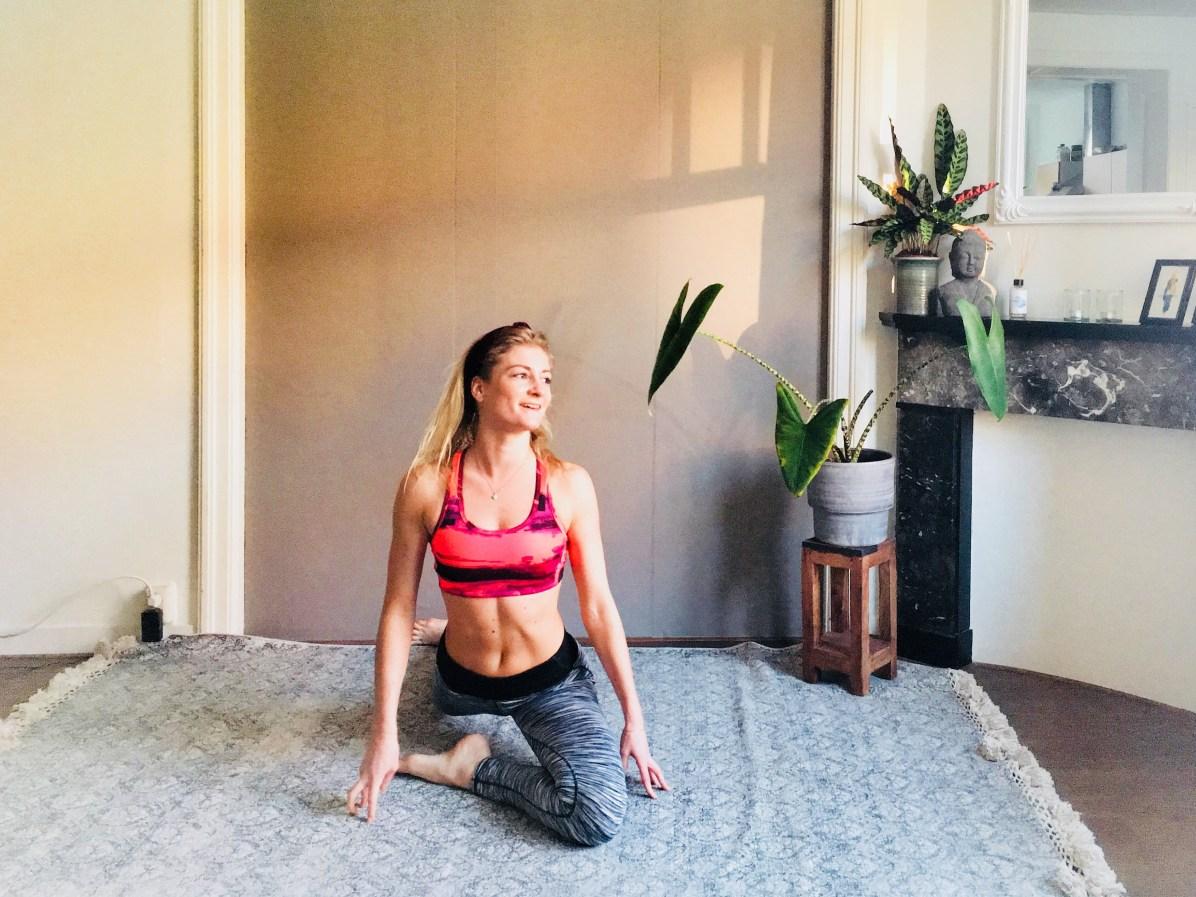 Yoga-oefeningen: pigeon pose