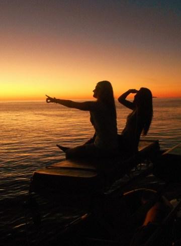 Een zonnegroet in de Whitsundays in Australië