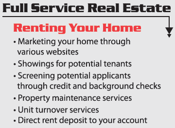 Full Service Real Estate Renting Your Home