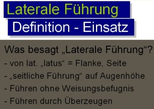 Laterale-Führung-Definition