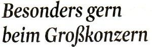 Kölner Stadt-Anzeiger, 05.04.2013: Besonders gern beim Großkonzern