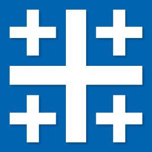Jerusalemkreuz blau