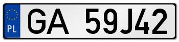 GA rejestracja samochodu Gdynia