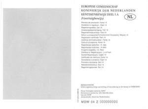 Stary dowód rejestracyjny Holenderski część I (voertuighewijs) awers