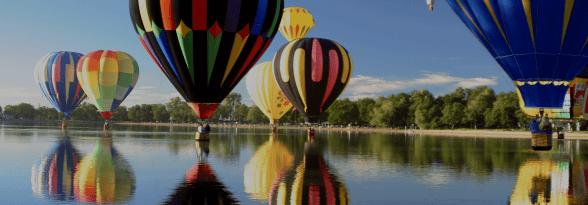 Great Balloons in Pokkara Lake