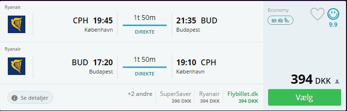 Fly til Budapest i september