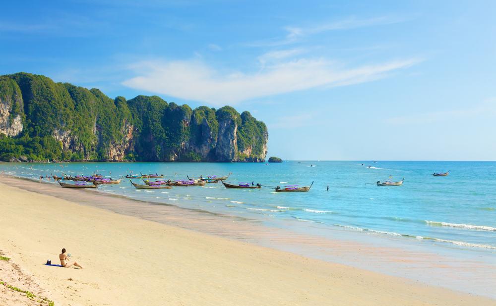 Ao Nang stranden i Thailand
