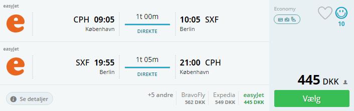 Flybilletter til Berlin i september 2016