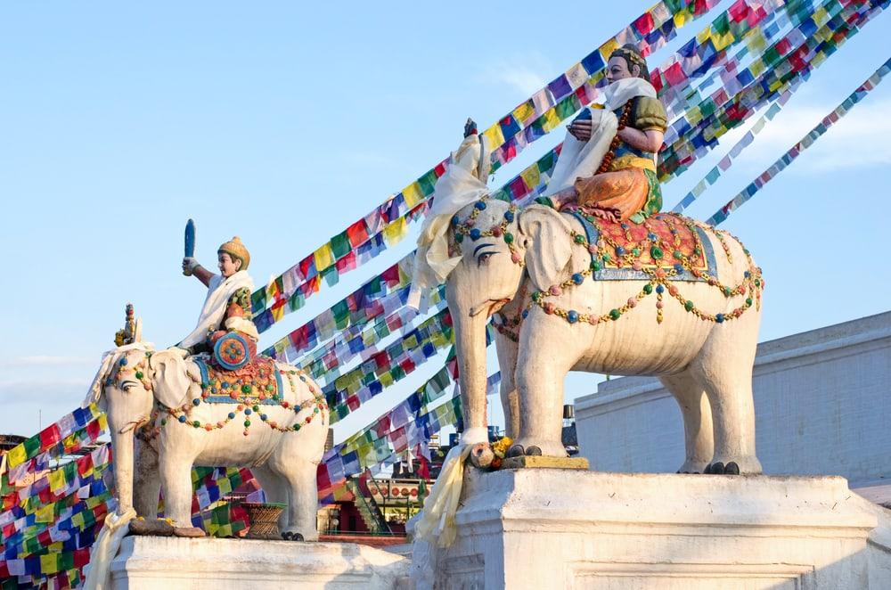 Boudhanath Stupa - Katmandu i Nepal