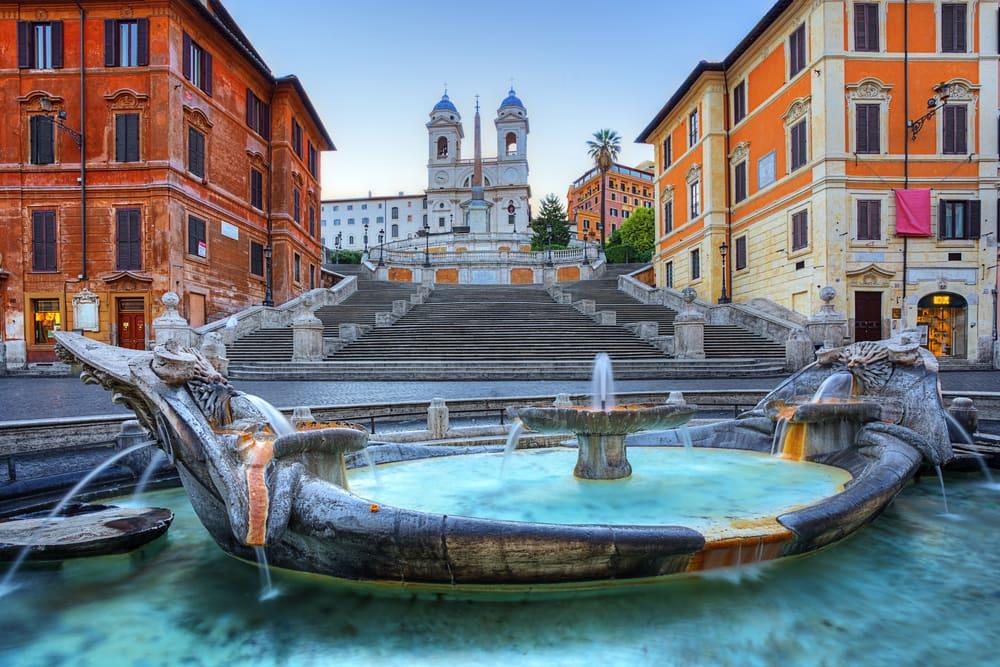 Den Spanske Trappe i Rom i Italien