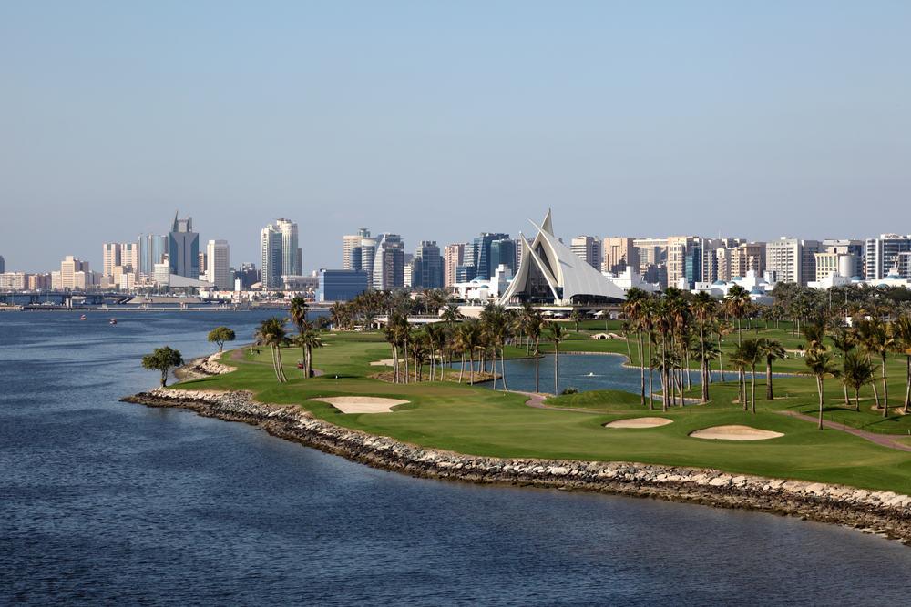 Golf anlæg i Dubai