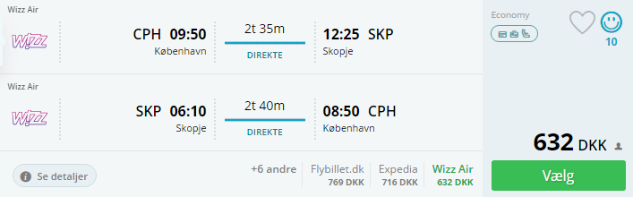 Fly til Skopje i efterårsferien