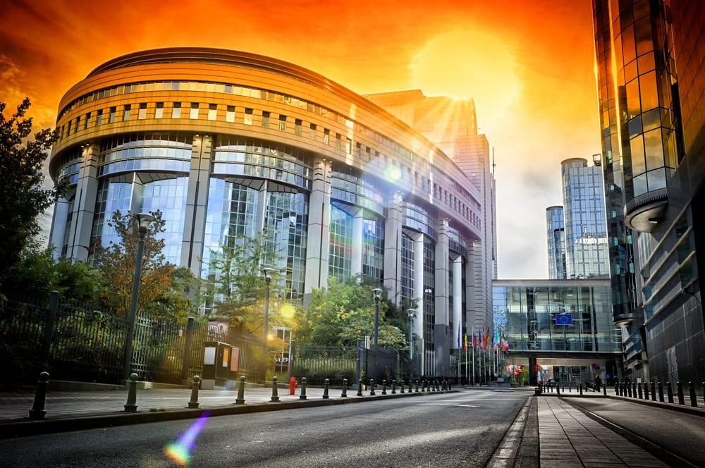 EU Parlamentet i Bruxelles i Belgien