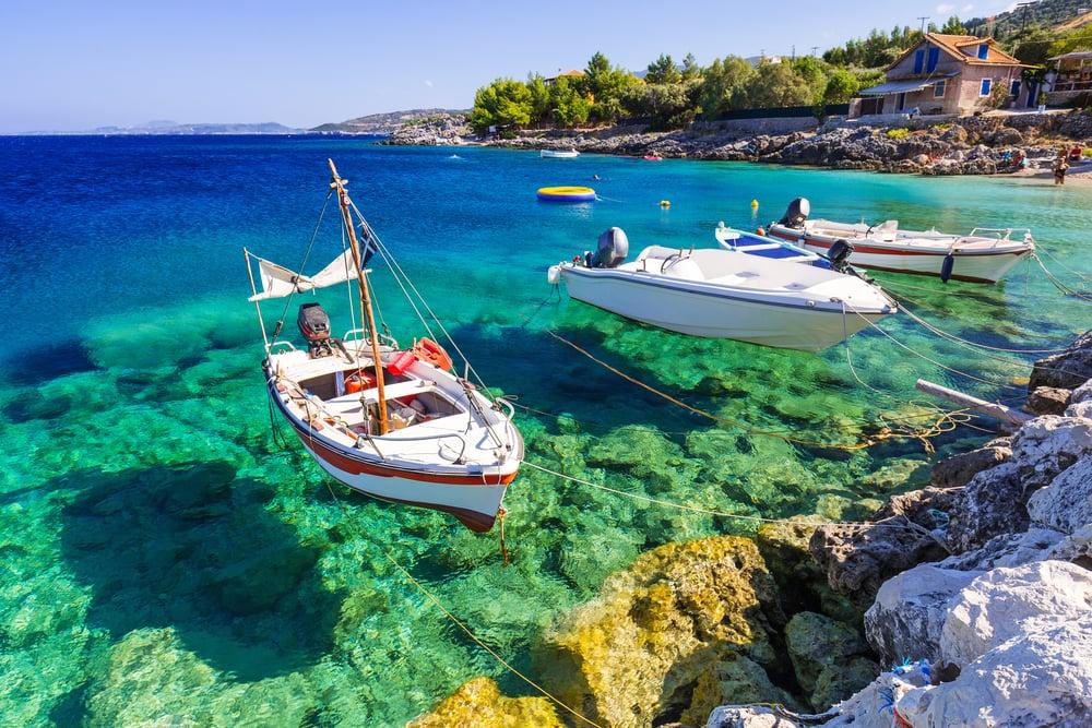 Fiskerbåde - Zakynthos i Grækenland