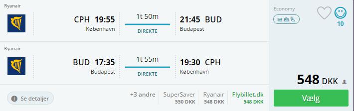 Fly til Budapest i efterårsferien 2016
