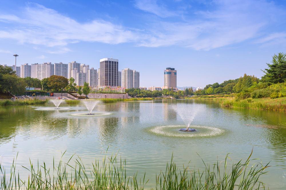 Forest parken i Seoul i Sydkorea