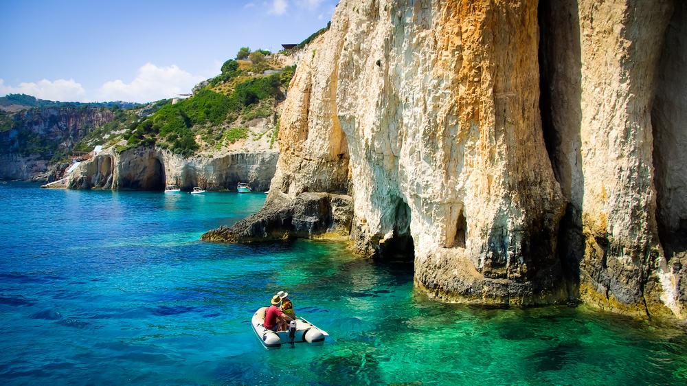 Grotter - Zakynthos i Grækenland