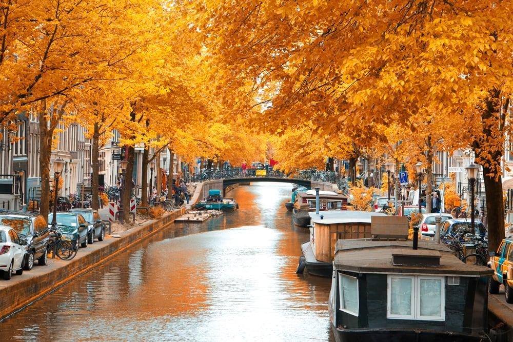 Amsterdam i Holland - efterårsstemning