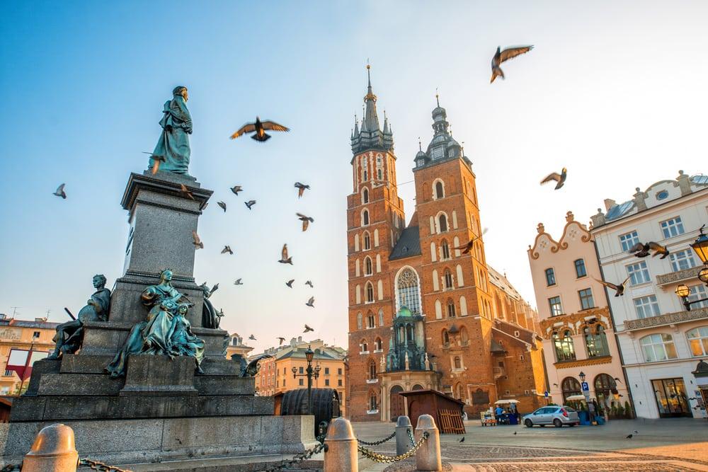 Adam Mickiewicz momumentet - Krakow i Polen