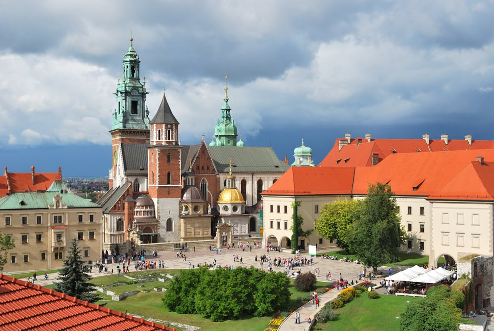 Wawel Katedralen - Krakow i Polen