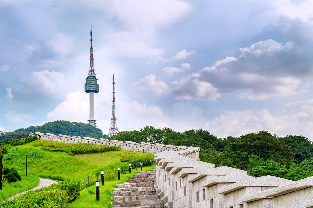 Namsan tårnet i Seoul i Sydkorea