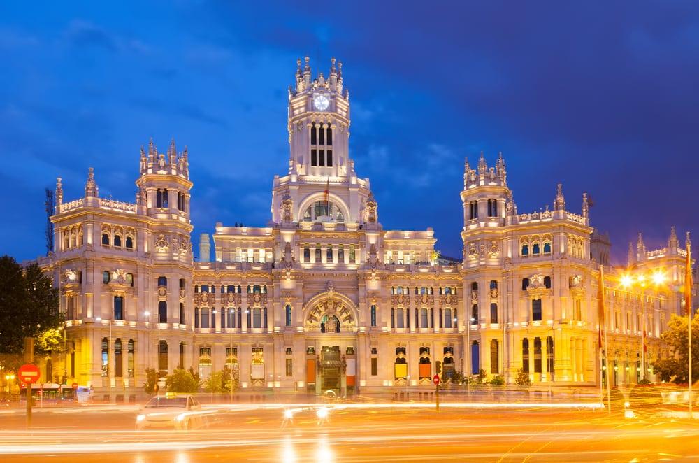 Palacio de Cibeles - Madrid i Spanien