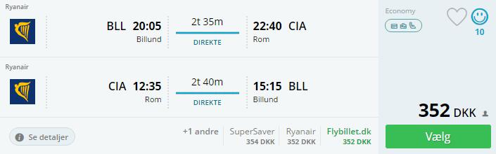 Billige flybilletter til Rom i september