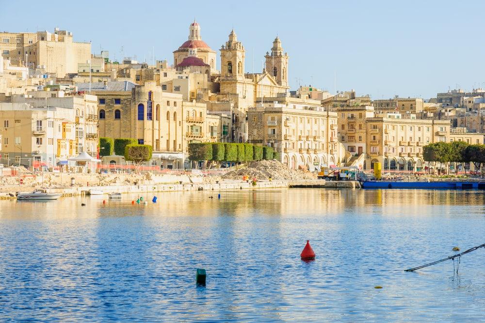 Senglea havnen på Malta