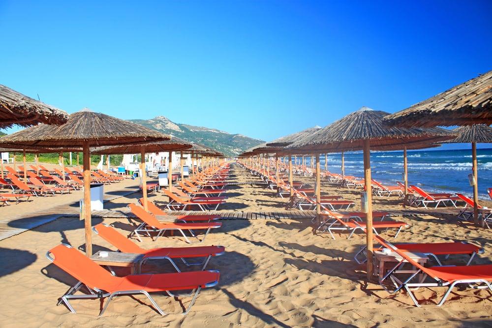 Dejlig strand - Zakynthos i Grækenland