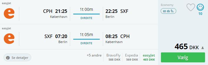 Flybilletter til Berlin i efterårsferien 2016