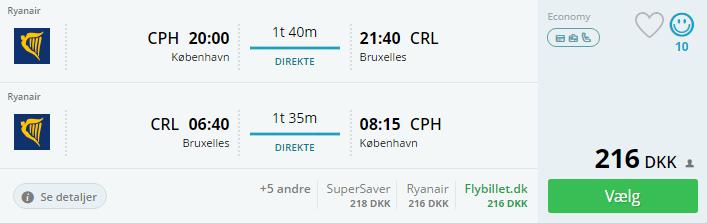 Billige flybilletter til Bruxelles i efterårsferien 2016