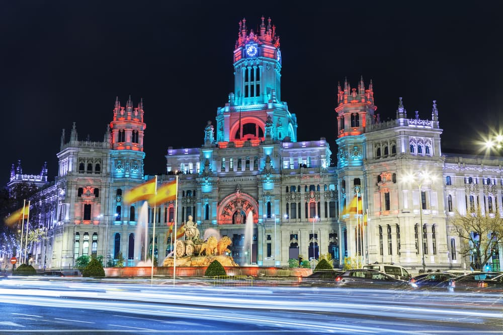 Cibeles Pladsen - Madrid i Spanien